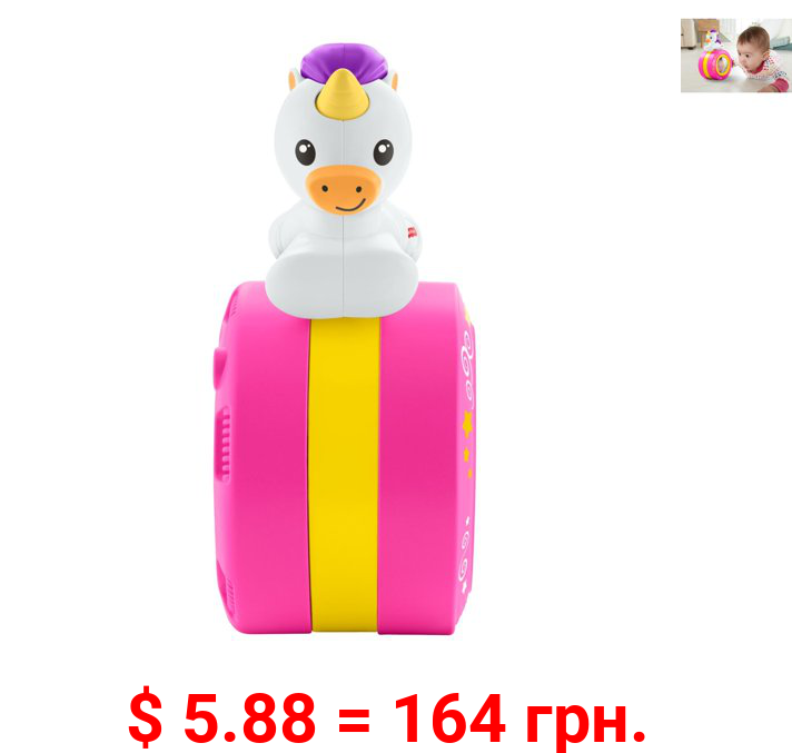 Fisher-Price Crawl Along Musical Unicorn with Mirror
