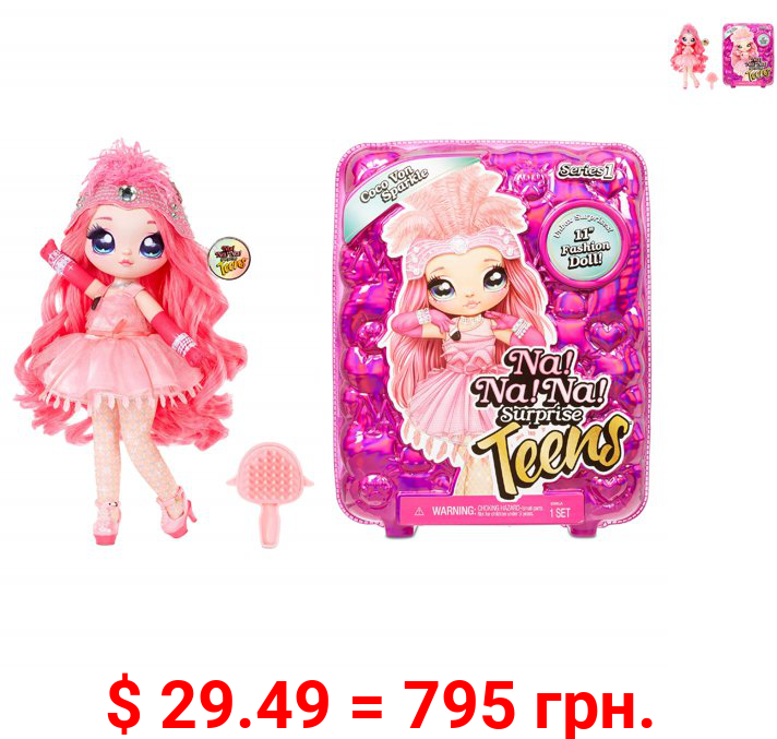 Na Na Na Surprise Teens Fashion Doll - Coco Von Sparkle, Flamingo Inspired, 11