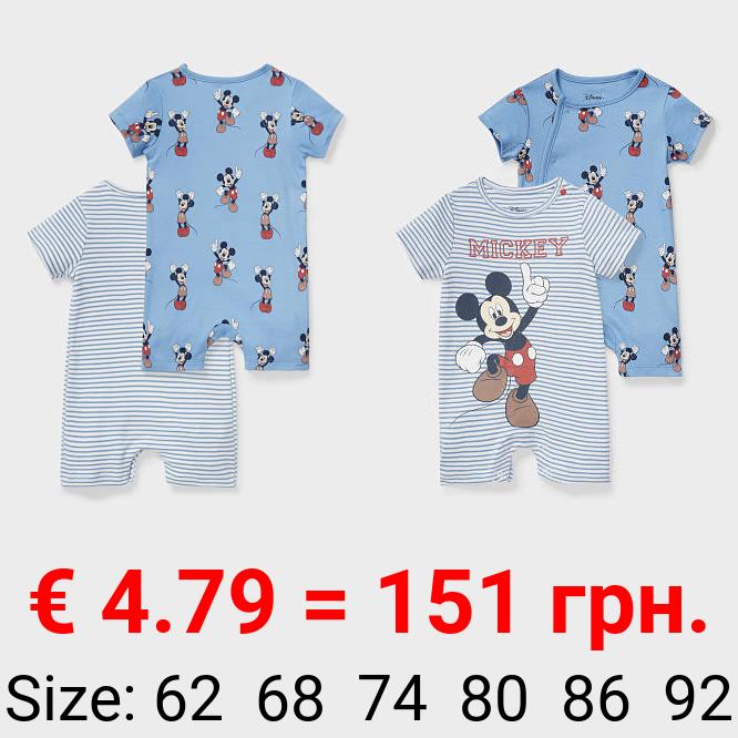 Multipack 2er - Micky Maus - Baby-Jumpsuit - Bio-Baumwolle