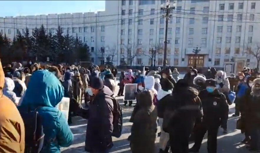 В Хабаровске начался субботний митинг в поддержку Фургала