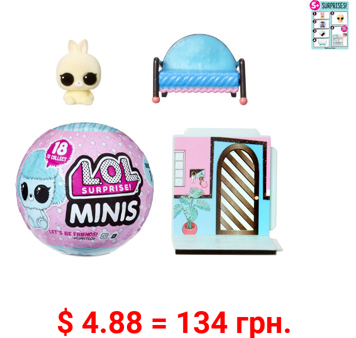 LOL Surprise! Minis with 5+ Surprises - Fuzzy Tiny Animals, Collect to Build a Tiny House
