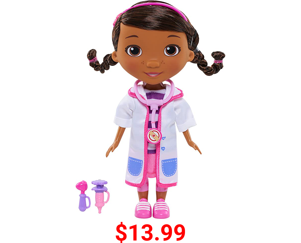 Doc McStuffins Toy Hospital Doc 8.5 Inch Articulated Doll with Doctor Accessories, by Just Play