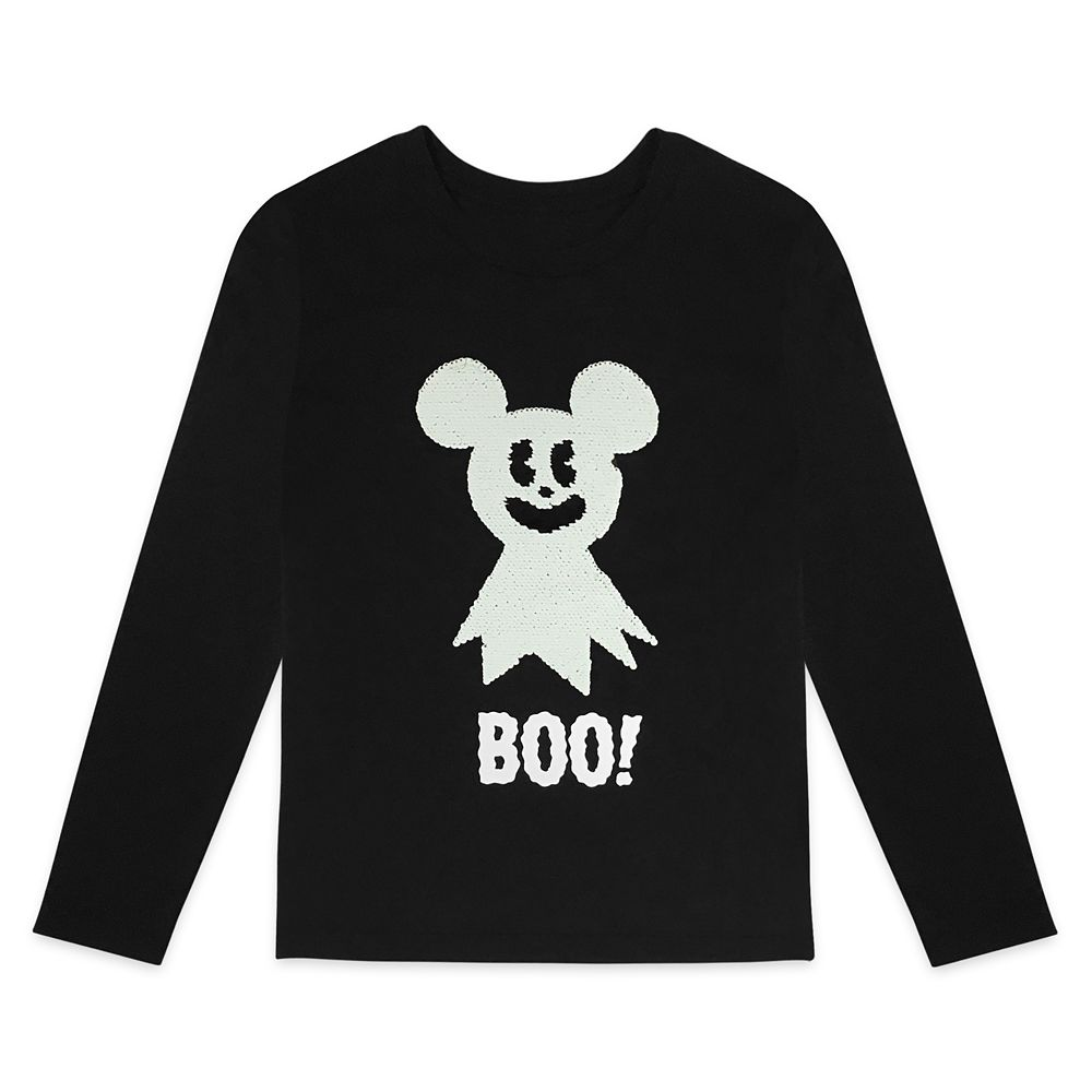 Mickey Mouse Halloween Long Sleeve Reversible Sequin T-Shirt for Kids