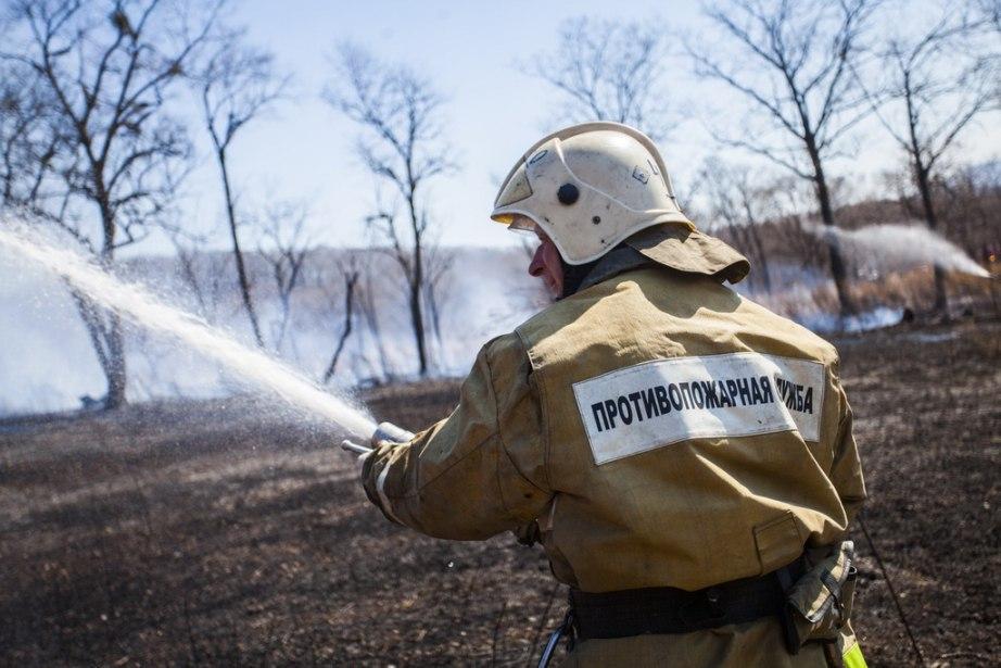 Семь природных пожаров тушат сегодня в Хабаровском крае