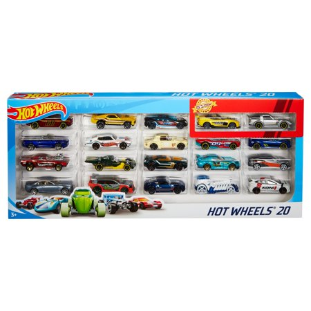 Hot Wheels 20-Car Gift Pack Assorted Toy Vehicles (Styles May Vary)