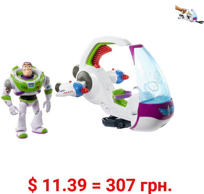 Disney Pixar Toy Story Galaxy Explorer Spacecraft Toy Vehicle For 4 Year Olds & Up