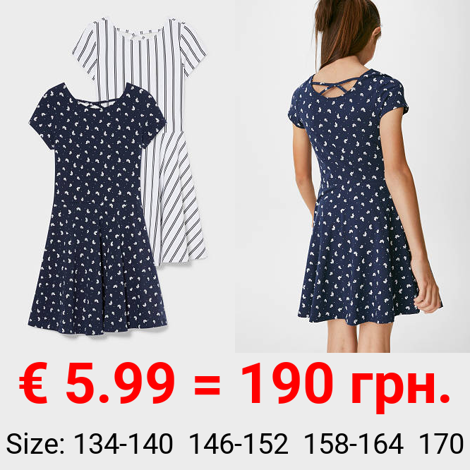 Multipack 2er - Kleid - Bio-Baumwolle