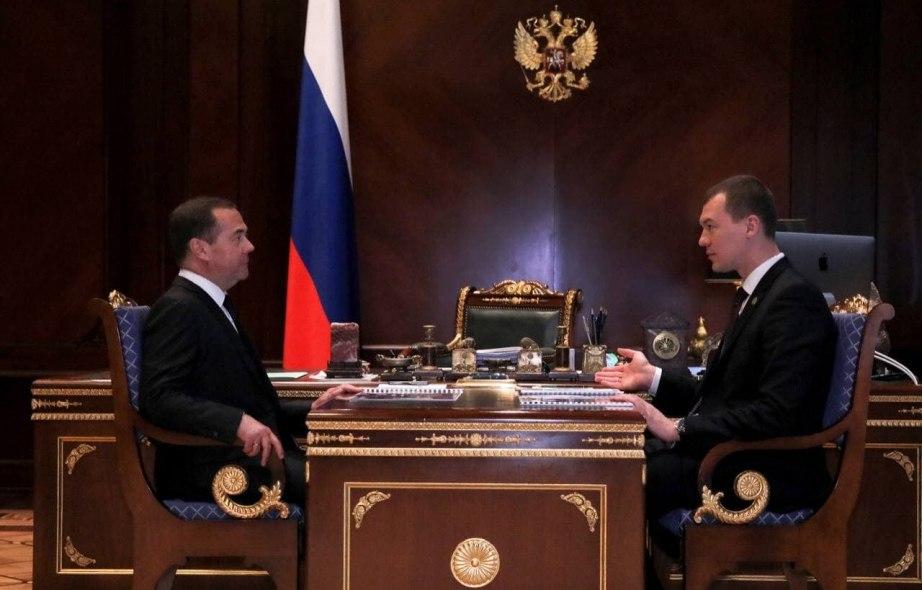 Медведев встретился с Дегтяревым