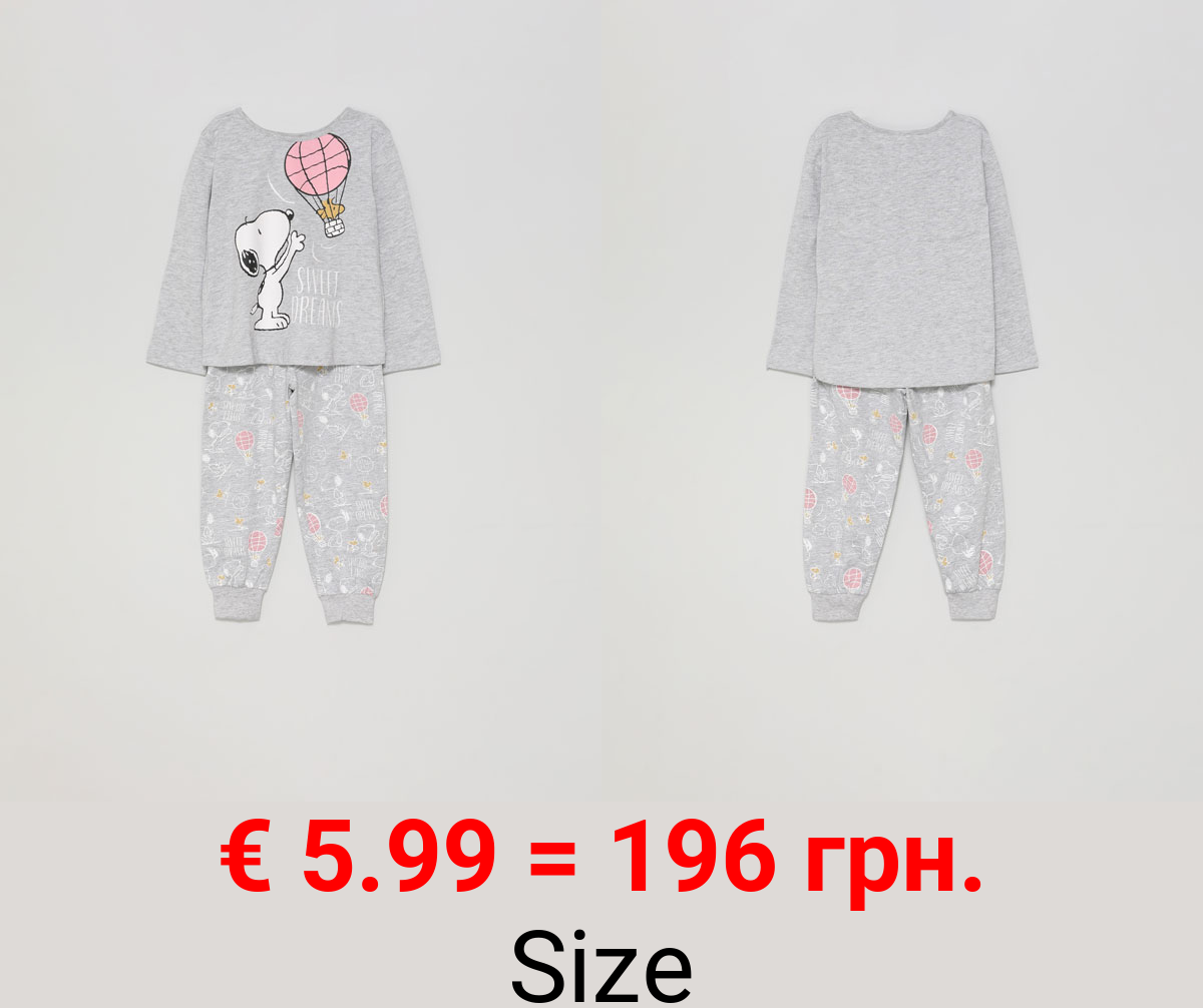 Set of pyjamas with a Snoopy™ print