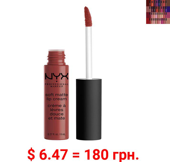 NYX Professional Makeup Soft Matte Lip Cream, lightweight liquid lipstick Rome, 0.8 Oz