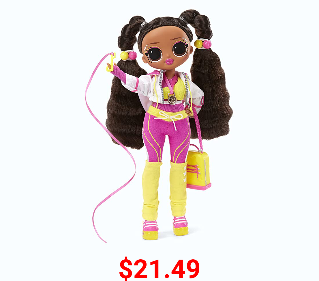 LOL Surprise OMG Sports Vault Queen Artistic Gymnastics Fashion Doll with 20 Surprises to UNbox
