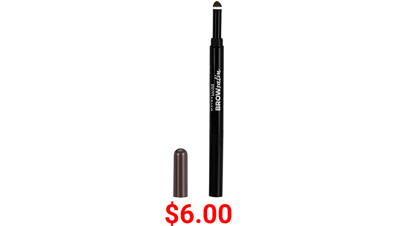 Maybelline Brow Define and Fill Duo 2-in-1 Defining Pencil with Filling Powder, Deep Brown, 0.021 Ounce