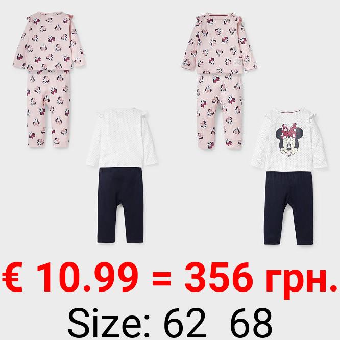 Minnie Maus - Baby-Pyjama - Bio-Baumwolle - 2er Pack