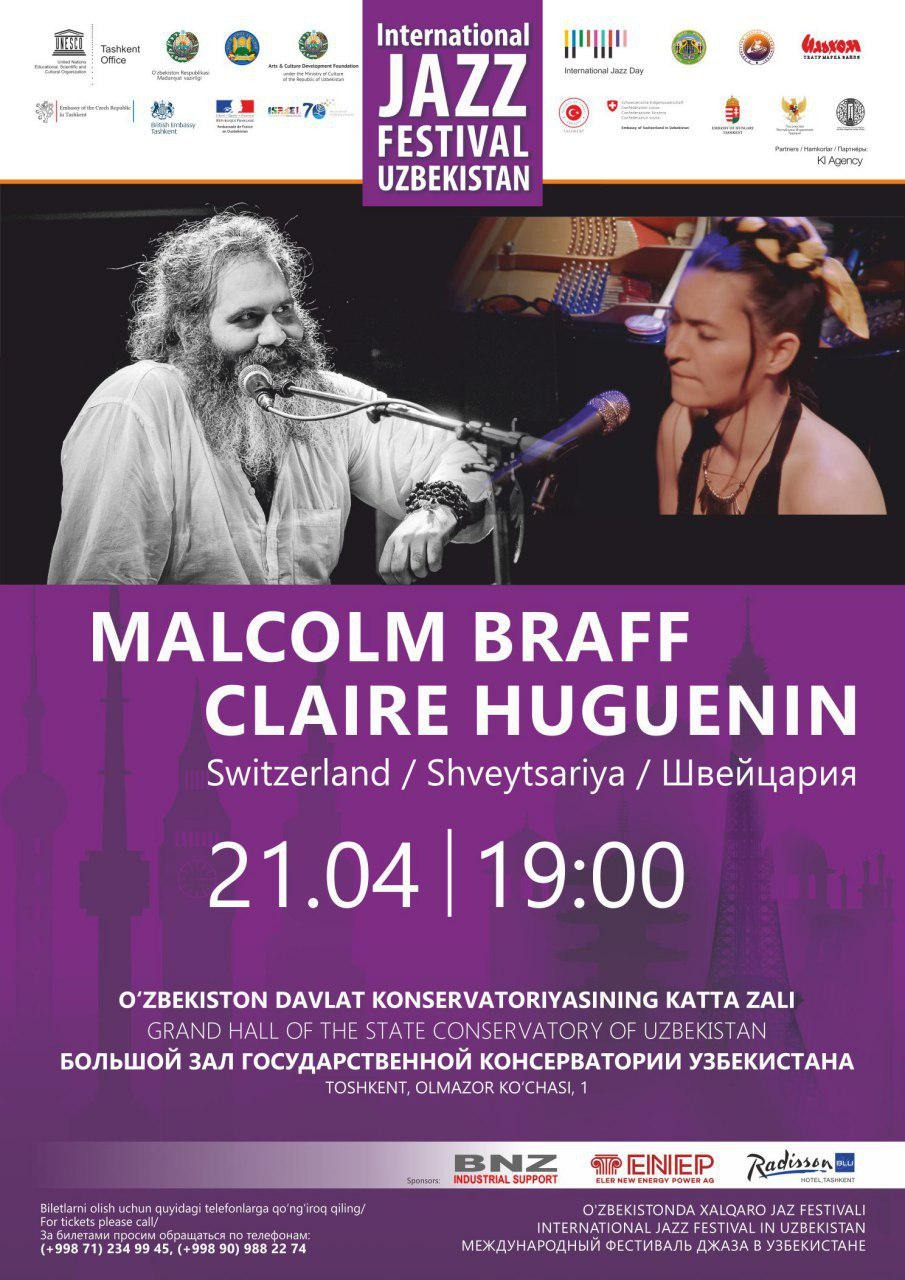 International Jazz Festival in Uzbekistan: Malcolm Braff Claire Huguenin