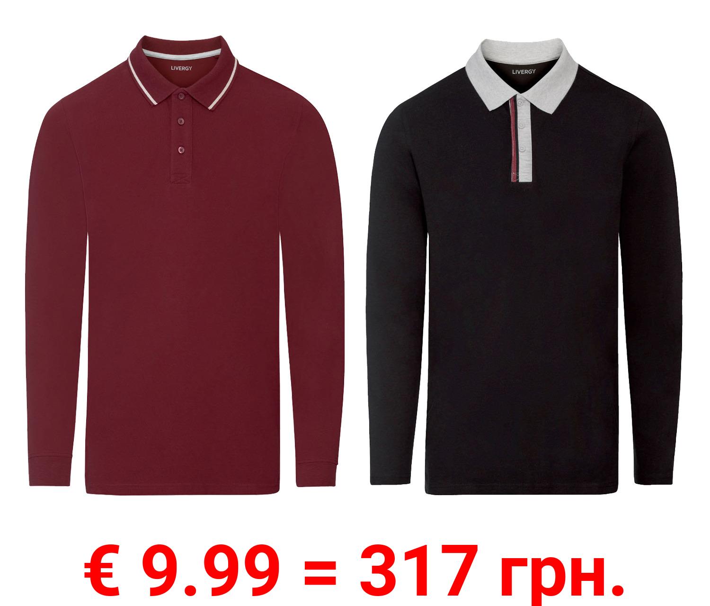 LIVERGY® Poloshirt Herren, langarm, aus hochwertiger Pikee-Qualität
