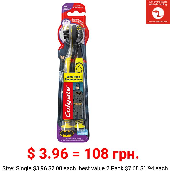 Colgate Kids Batman Toothbrush - 2 Count