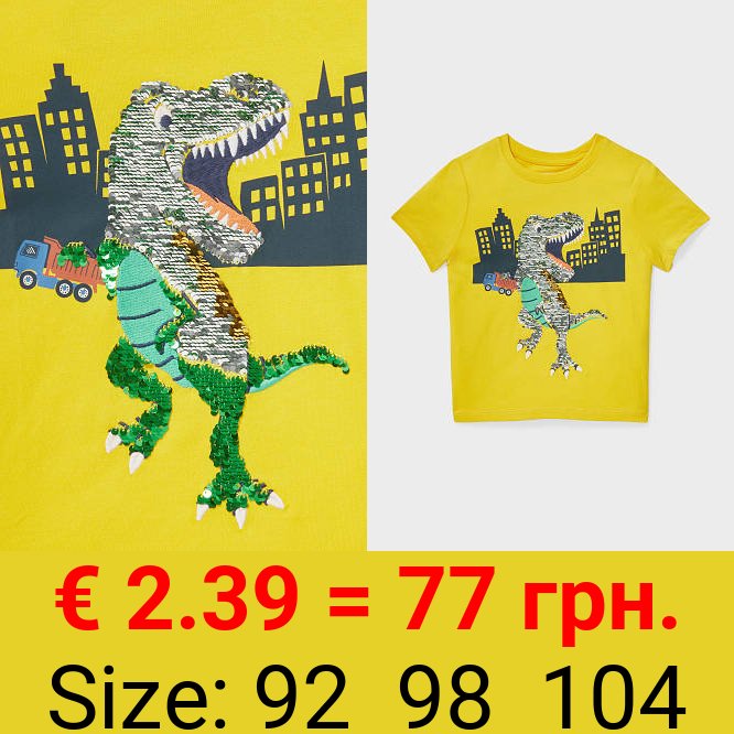 Dino - Kurzarmshirt - Bio-Baumwolle - Glanz-Effekt
