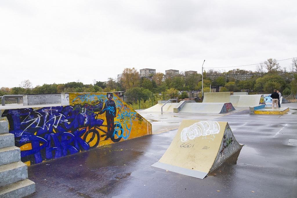 В Северном парке отремонтировали скейт-площадку