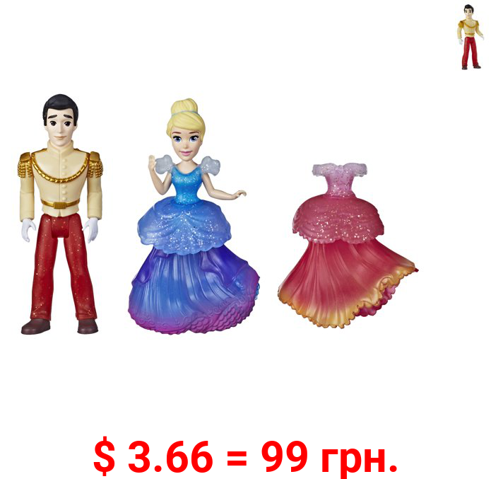 Disney Princess Cinderella and Prince Charming, with 2 Dresses