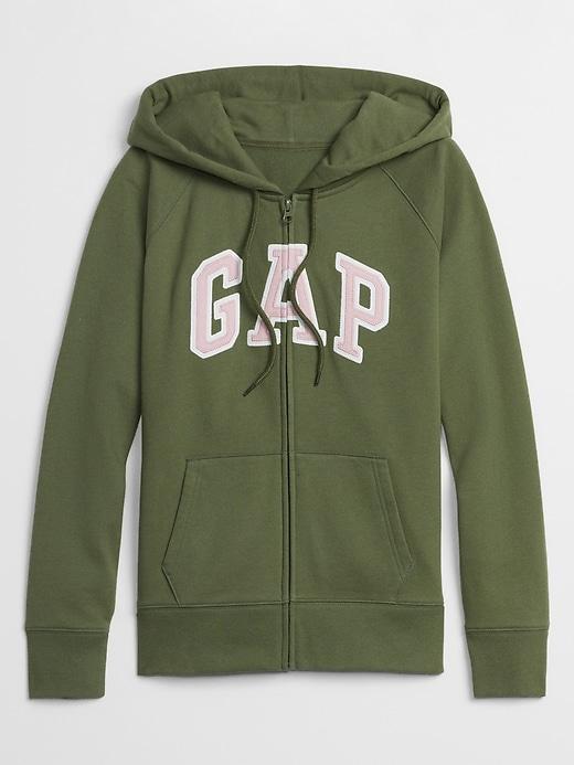 Gap Logo Zip Hoodie In Fleece