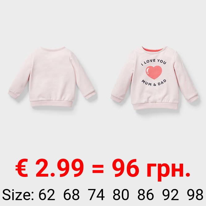 Baby-Sweatshirt - Bio-Baumwolle