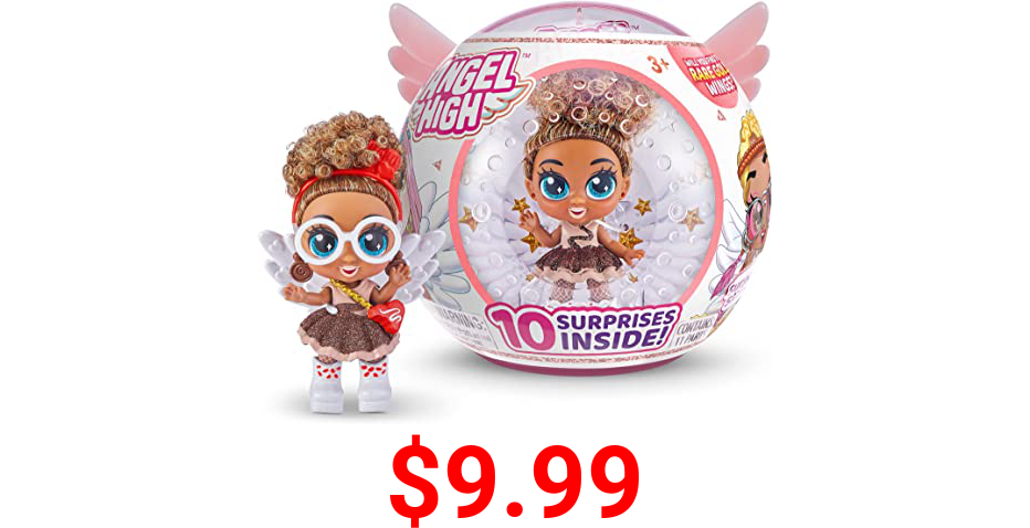 Itty Bitty Prettys Angel High Coco Love Collectible Doll with 10 Surprise Accessories by ZURU, Multi