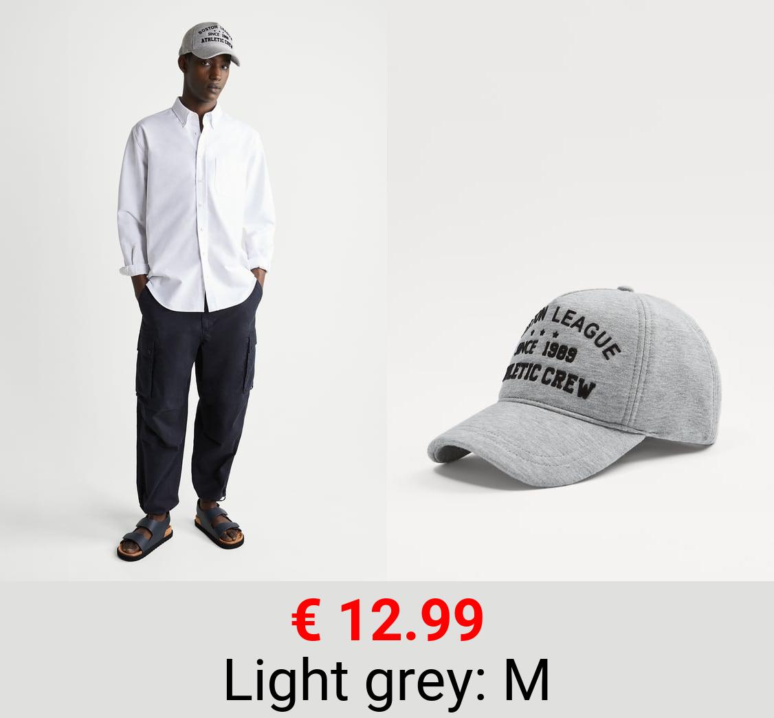 SLOGAN PRINT CAP