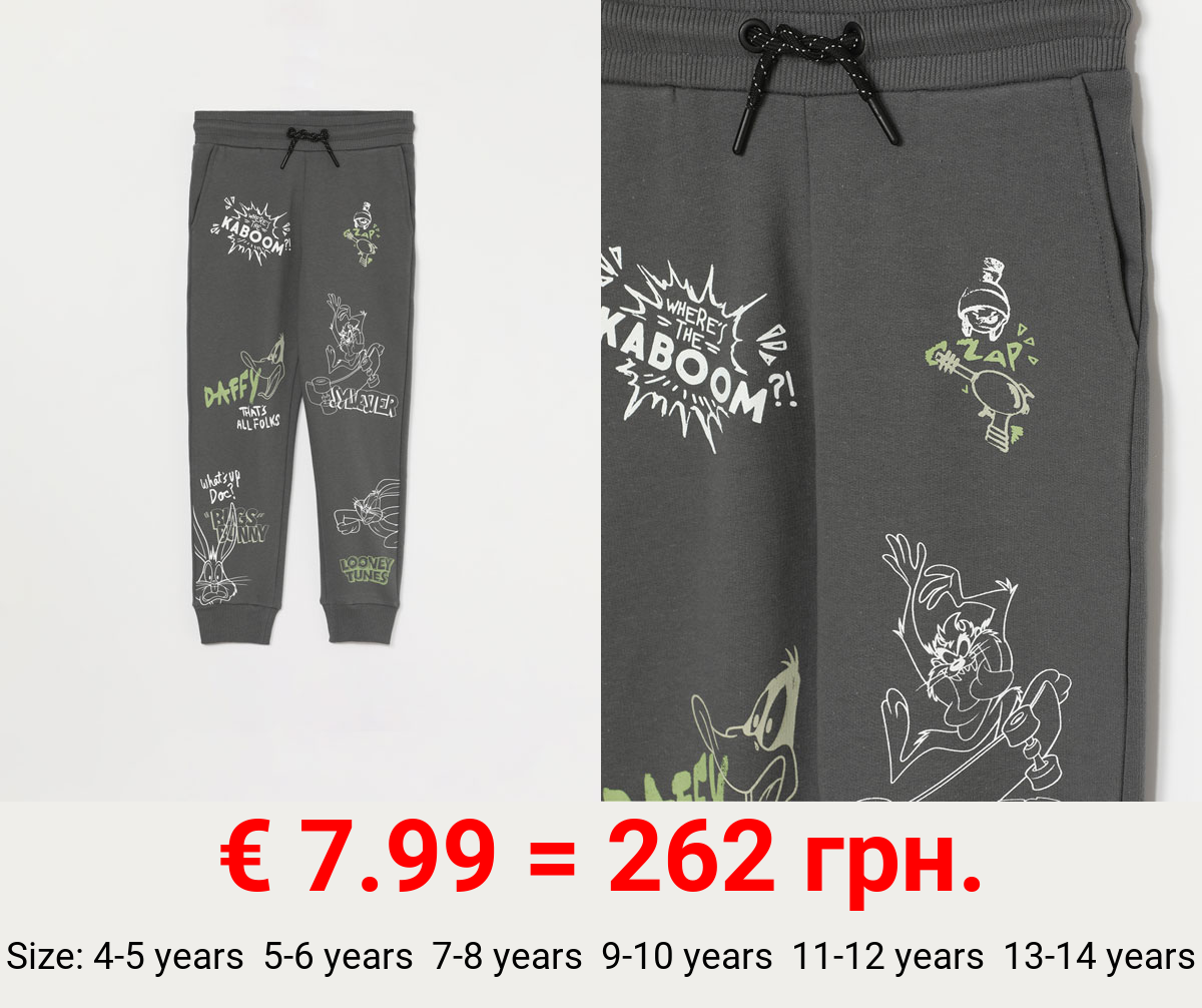 BUGS BUNNY LOONEY TUNES © &™ WARNER BROS TRACKSUIT TROUSERS.