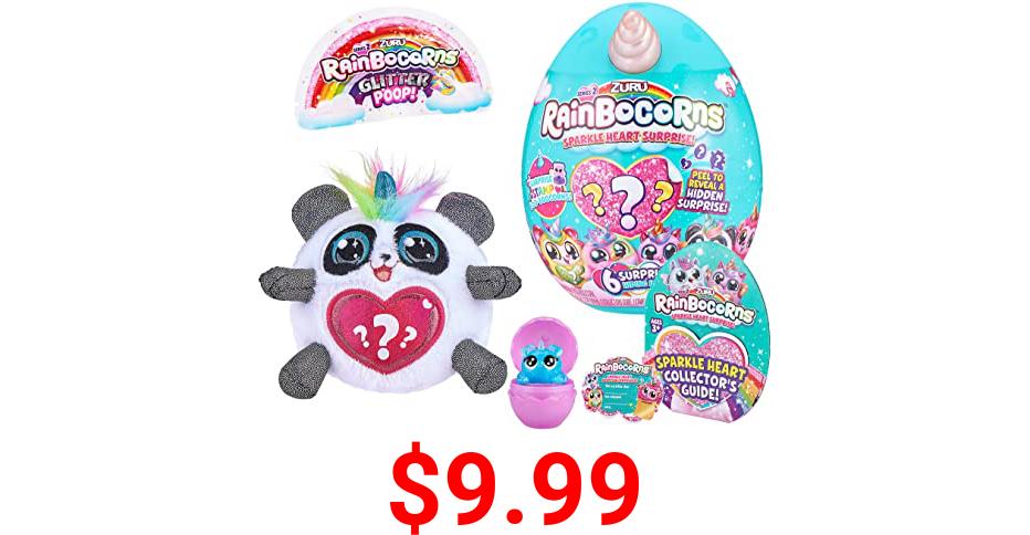 Rainbocorns - Plush Sparkle Heart Surprise Series 2 - Panda