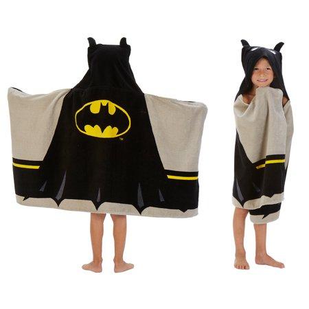 Batman Kids Bath and Beach Hooded Towel Wrap, 100% Cotton