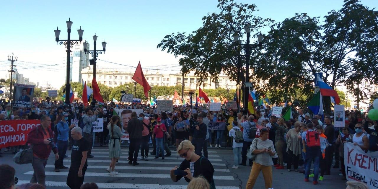 700 человек насчитала Администрация Хабаровска на несанкционированном митинге