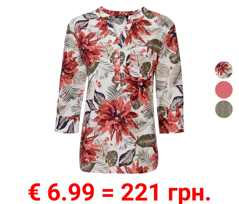 ESMARA® Bluse Damen, verlängerte Rückenpartie