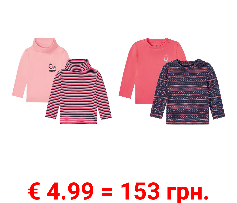 LUPILU® KleinkinderMädchen Langarmshirt Ski,2 Stück