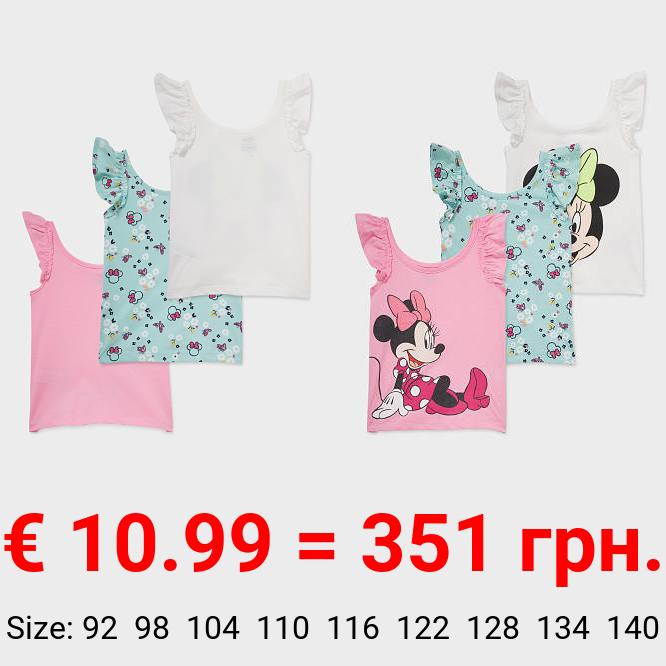 Multipack 3er - Minnie Maus - Top - Bio-Baumwolle