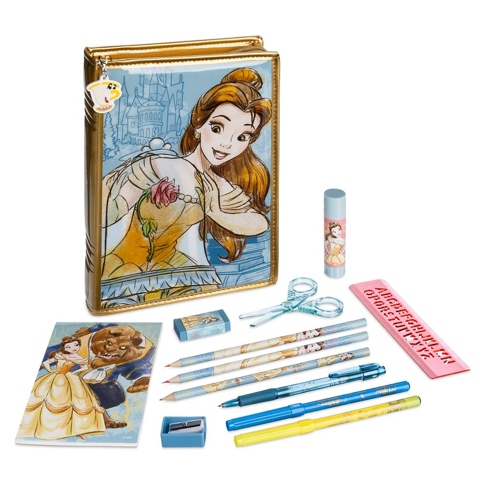Beauty and the Beast Zip-Up Stationery Kit