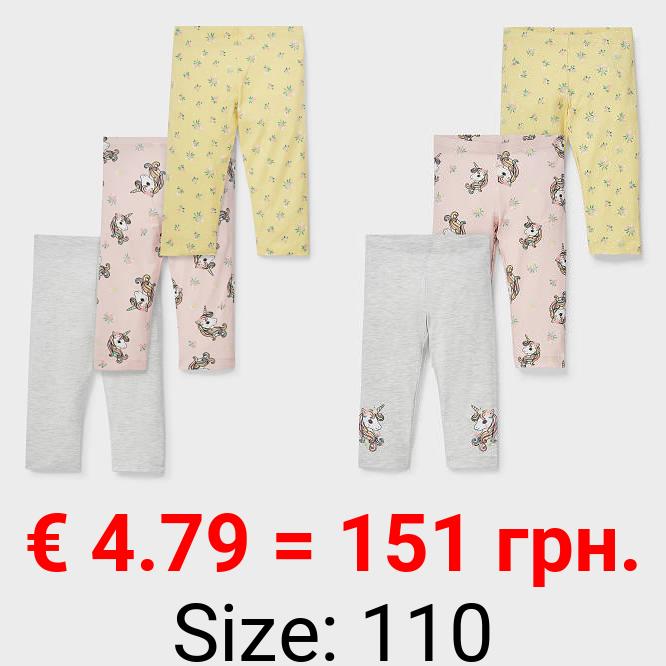 Multipack 3er - Capri-Leggings - Bio-Baumwolle