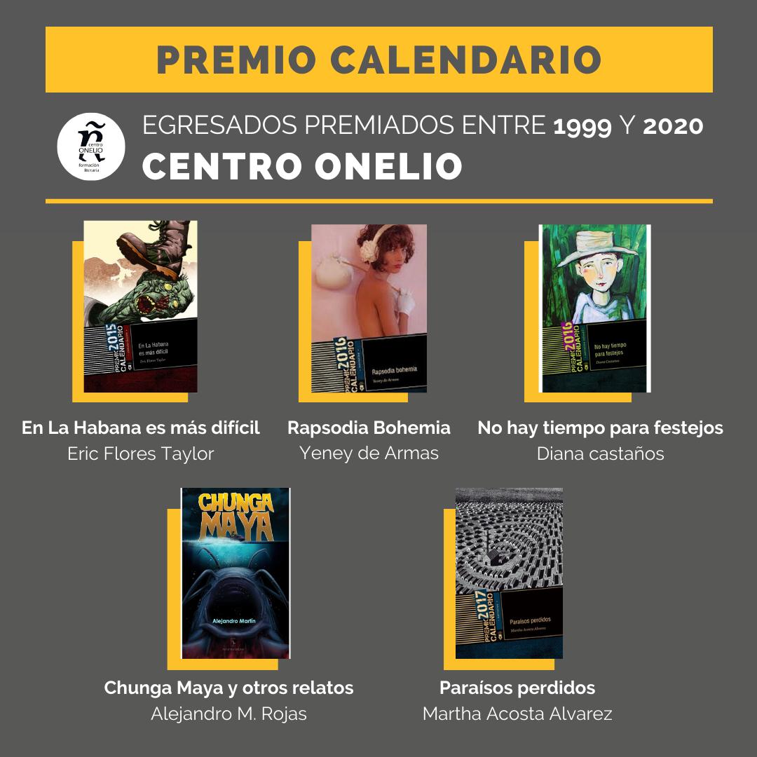 Premio Calendario. Egresados premiados entre 1999 y 2020