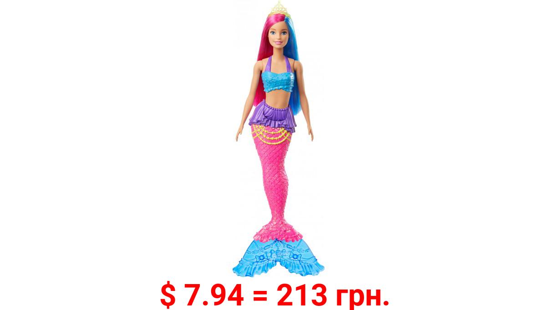 Barbie Dreamtopia Mermaid Doll, 12-Inch, Pink And Blue Hair