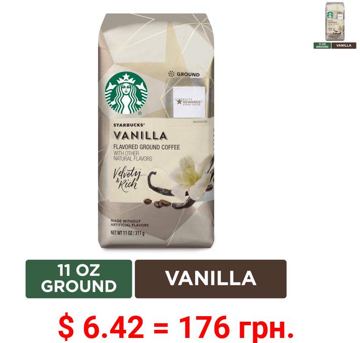 Starbucks Flavored Ground Coffee — Vanilla — No Artificial Flavors — 1 bag (11 oz.)