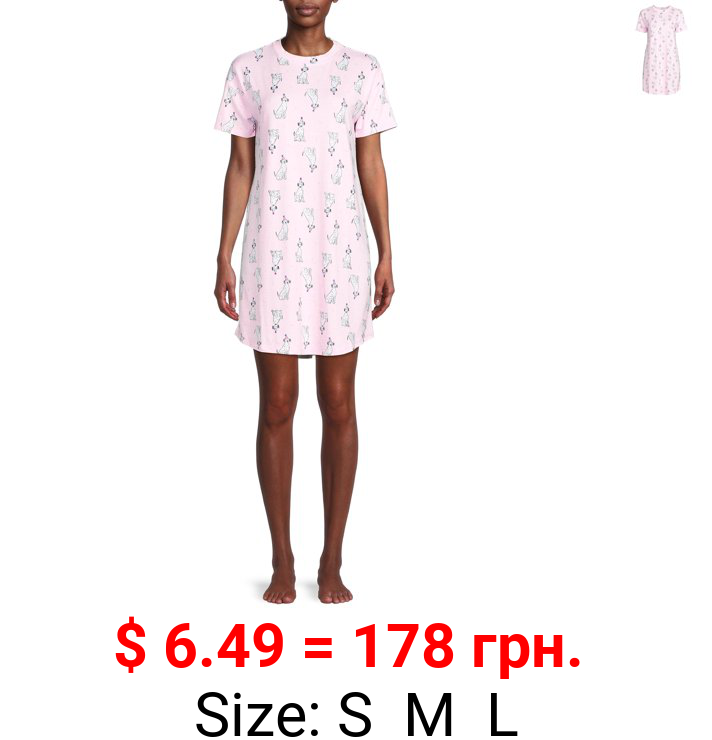 Jaclyn Women's Hi-Lo Drop Shoulder Sleep Shirt