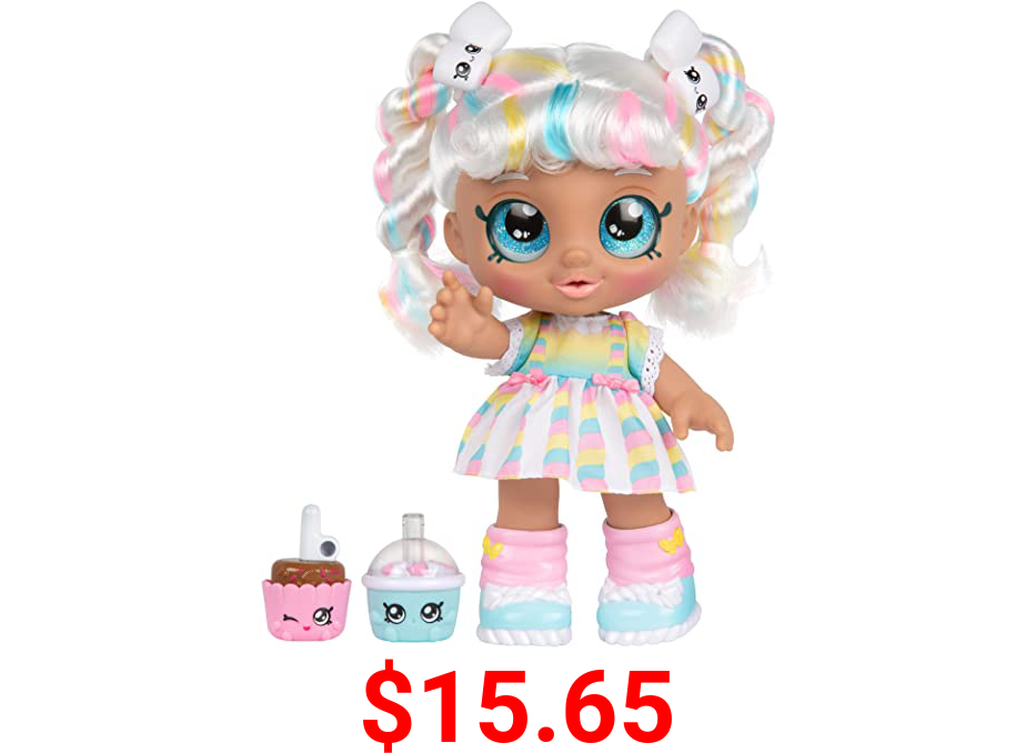 Kindi Kids Snack Time Friends - Pre-School Play Doll, Marsha Mello - for Ages 3+   Changeable Clothes and Removable Shoes - Fun Snack-Time Play, for Imaginative Kids