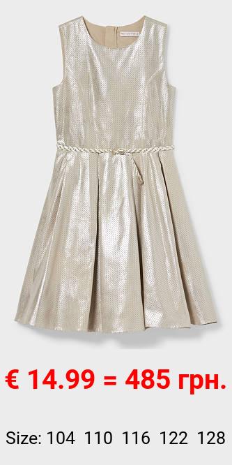 Kleid - Velourslederimitat - glänzend