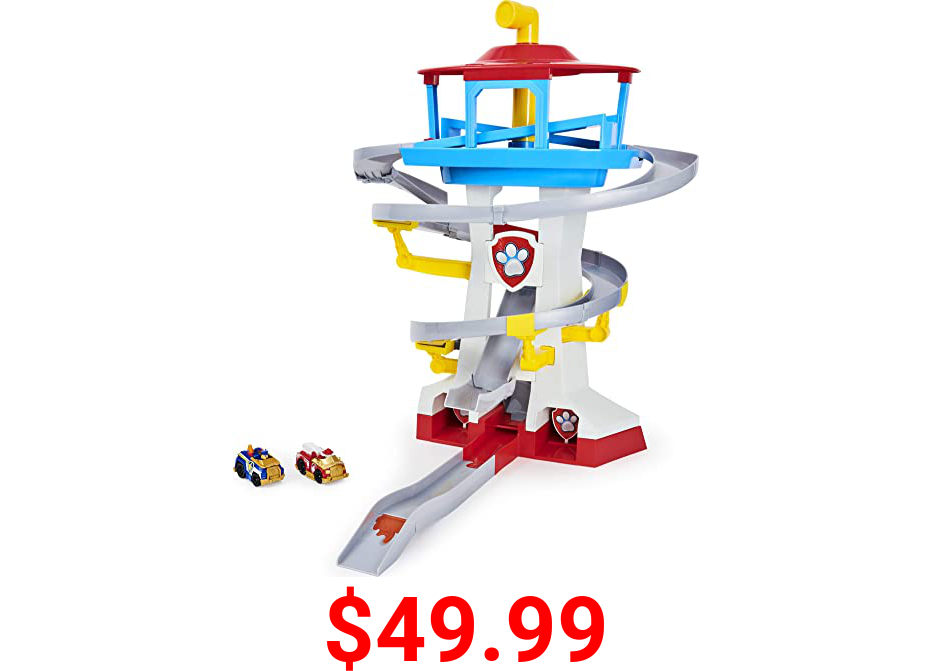 Paw Patrol, True Metal Adventure Bay Rescue Way Toy Playset with 2 Exclusive Die-Cast Vehicles, 1:55 Scale