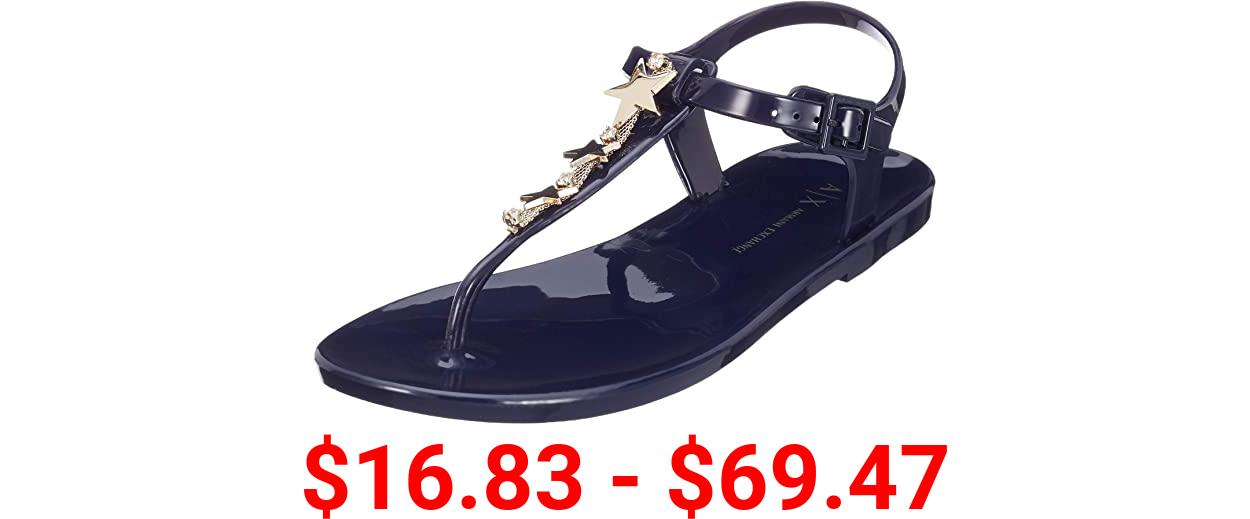 AX Armani Exchange Women's Rubber Flat Sandal