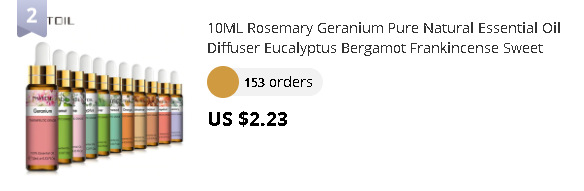 10ML Rosemary Geranium Pure Natural Essential Oil Diffuser Eucalyptus Bergamot Frankincense Sweet Orange Cloves Grapefruit Oil