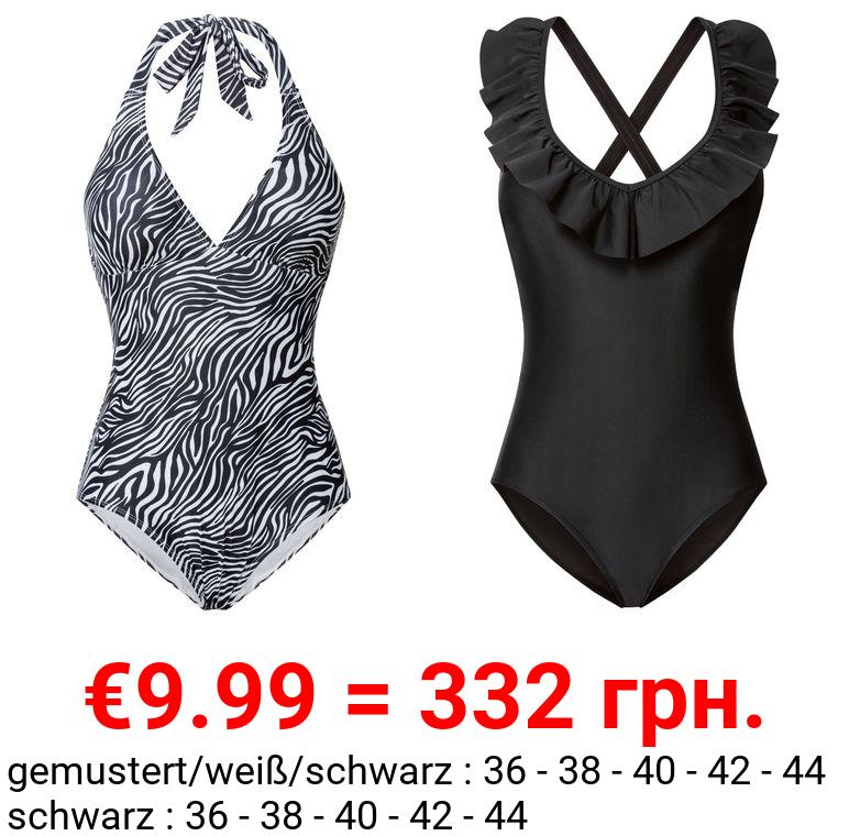 ESMARA® Badeanzug Damen, mit Brustpolsterung