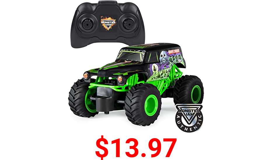 Monster Jam , Official Grave Digger Remote Control Monster Truck Toy, 1:24 Scale, 2.4 GHz, for Ages 4 and Up