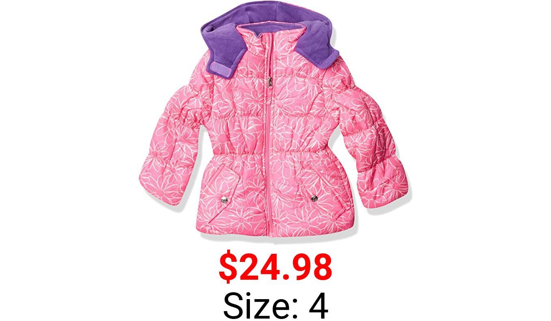 Pink Platinum girls Puffer Jacket