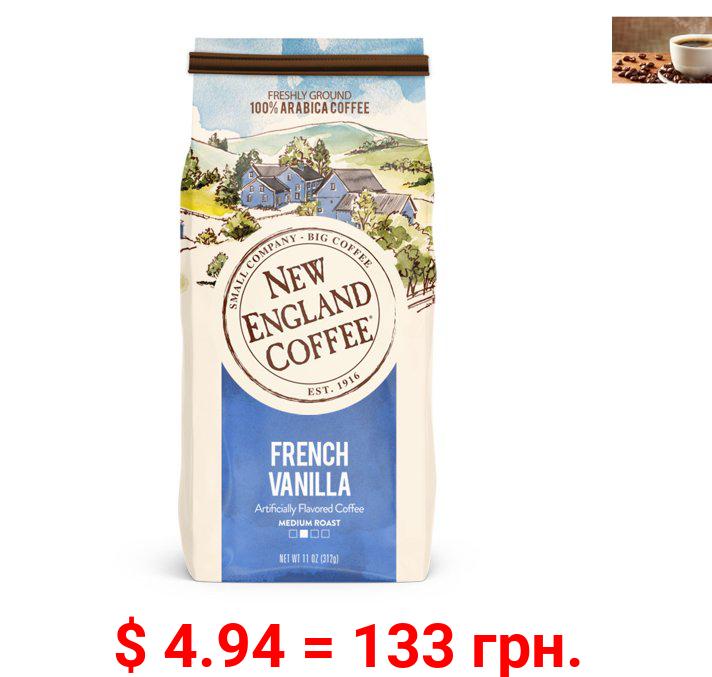 New England Coffee French Vanilla, Medium Roast, Ground Coffee, 11 oz.