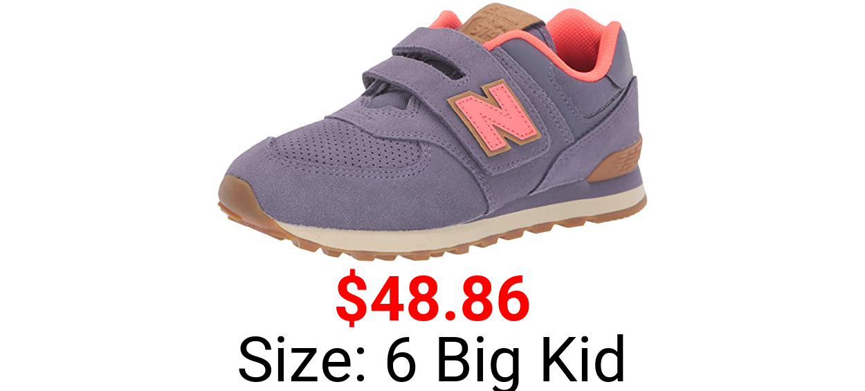 New Balance Kids' 574 V1 Hook and Loop Sneaker